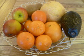 Pregnancy food: colourful fruit