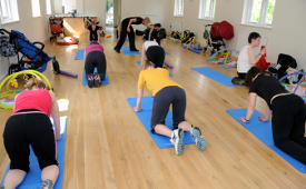 Pilates classes for new mums