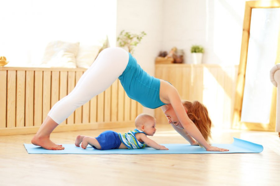 Postnatal mother and baby fitness image