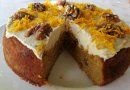 Healthy Carrot & Pineapple Cake with Orange-infused Frosting