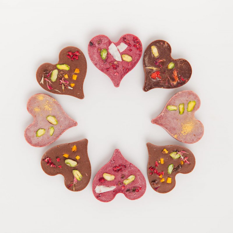 Raw Passion Chocolate Hearts
